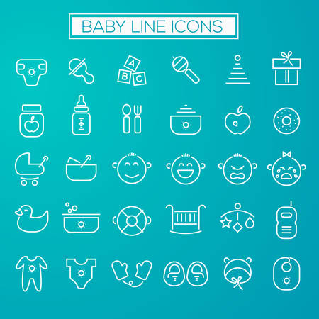 puree: Inline Baby Icons Collection Illustration