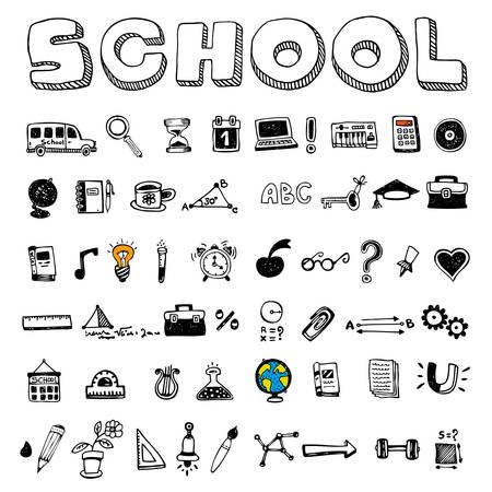 Schule und pädagogische Symbole Standard-Bild - 91421049