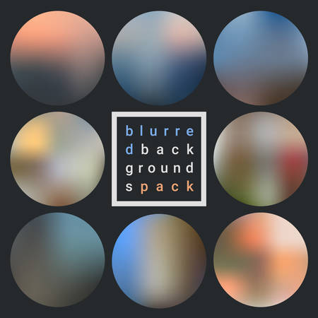 Abstract trendy vector blurred textured backgrounds pack