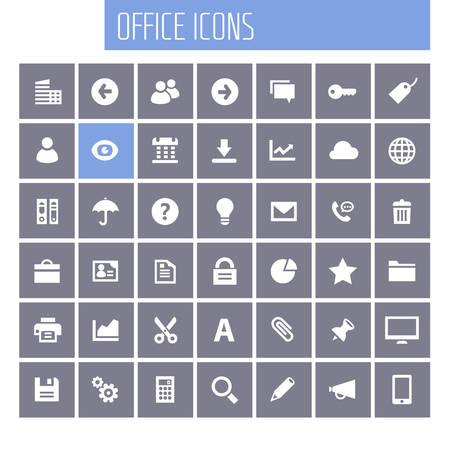 Trendy flat design big UI, UX and Office icons set