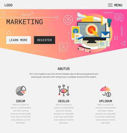 Flat design responsive Startup and Freelance UI mobile app splash screens template with trendy illustrations and 3d smartphone mockups Vektorové ilustrace