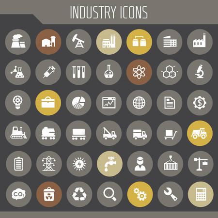Big Industry icon set, trendy line icons collection