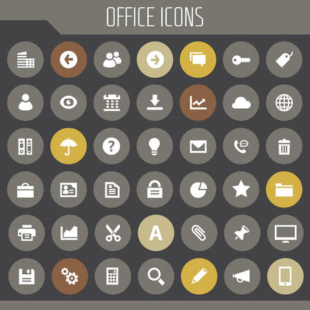 Big UI, UX and Office icon set Banque d'images - 124893493