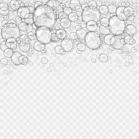 Transparent water or soap foam, isolated on light transparent background, easy to edit, 10 EPS Фото со стока - 126954113
