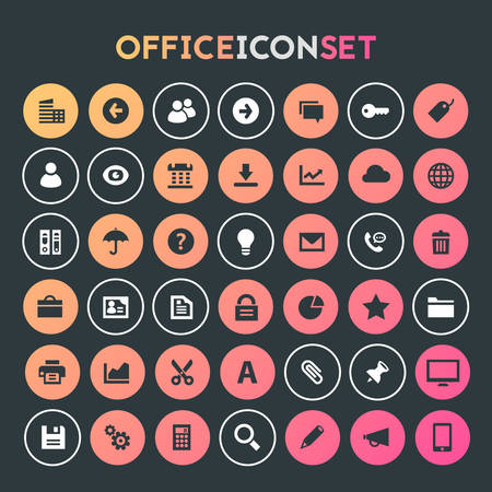 Big UI, UX and Office icon set Banque d'images - 124893538