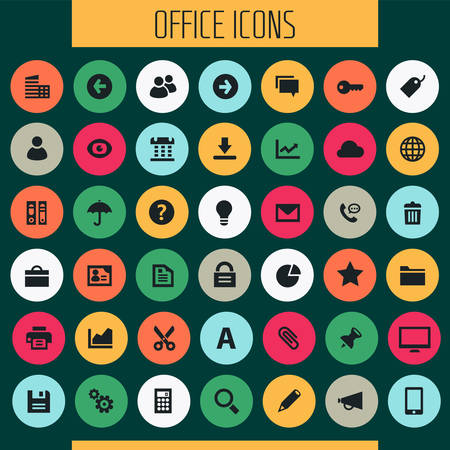 Big UI, UX and Office icon set Banque d'images - 124893539