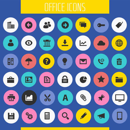 Big UI, UX and Office icon set Banque d'images - 124893552