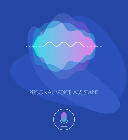 Mobile App UI Personal Voice Assistant Concept Reklamní fotografie - 124893613