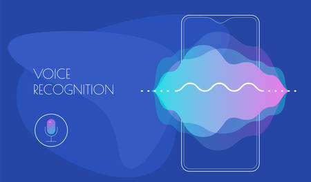 Mobile App UI Personal Voice Assistant Concept Reklamní fotografie - 124893615