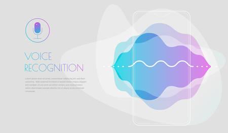 Mobile App UI Personal Voice Assistant Concept Reklamní fotografie - 124893654
