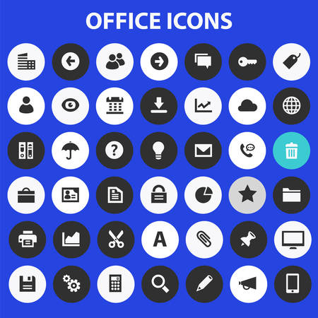 Big UI, UX and Office icon set Banque d'images - 124893660