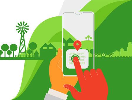 Augmented reality amoeba style mobile app concept