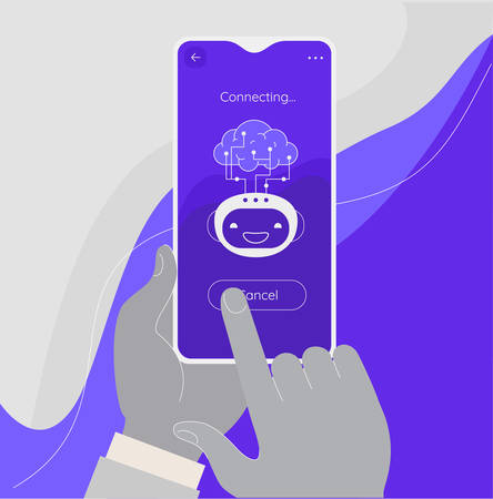 Artificial digital brain and Human Robot Interface Concept. Remote connecting using mobile phone