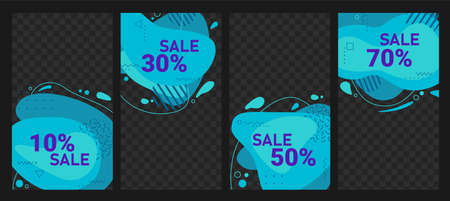 Abstract trendy vector flow sale design background