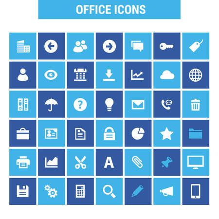 Big UI UX and Office icon set, trendy flat icons