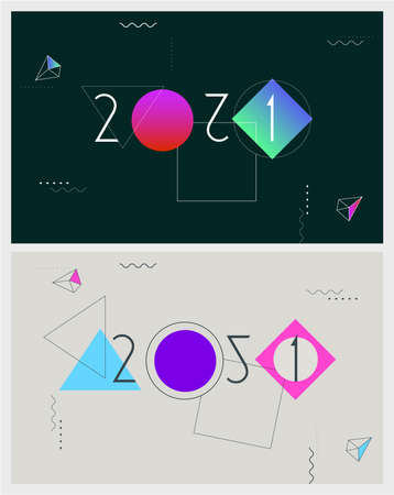 Abstract vector geometric design New Year background Ilustrace