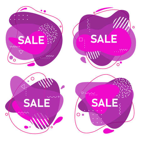 Abstract trendy vector flow sale design background