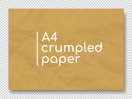 Vector crumpled grunge realistic old paper textures