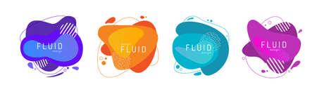 Abstract trendy vector fluid design elements background Reklamní fotografie - 167878898