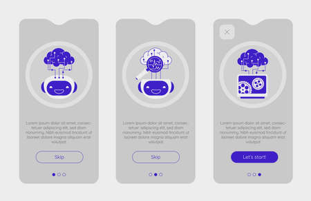 Onboarding App Screens With Robotic Artificial Intelligence Technology