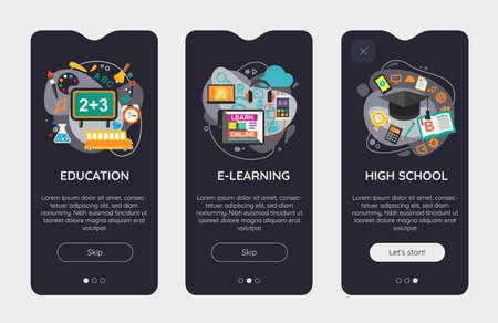 Trendy Design and Development Mobile App Splash Onbard Screens