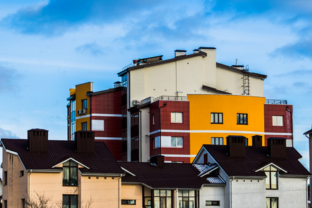 lowrise: Colorful low-rise building