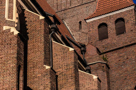 unusual angle: Picture of cathedral taken in unusual angle details Stock Photo