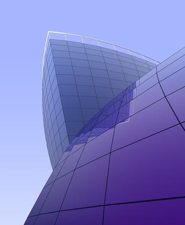 Buildings business of the centres, glass abstract buildings for a background. photo