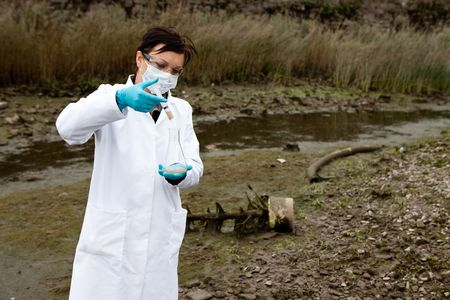 environmental safety: environmental pollution - research Stock Photo