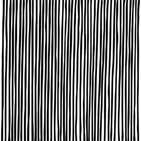 Lignes noires denses parallèles verticales dessinées à la main sur fond blanc. Croquis de lignes droites pour la conception graphique. Vecteurs