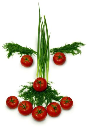 funny strange vegetables face in my plate Stock Photo - 5783428