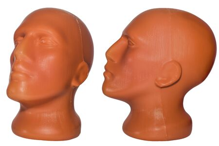 mannequin head: plastic mannequin head for fashion models Stock Photo