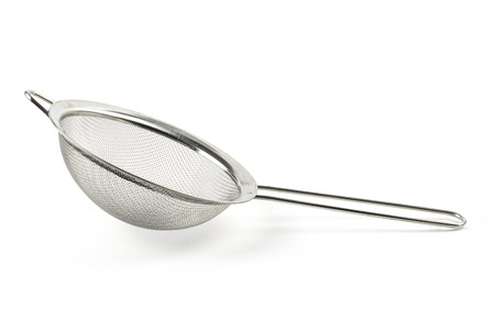 Silver sieve isolated on white