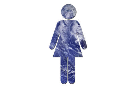 A woman made up of water to symbolize environmental issues. Water picture from NASA. photo