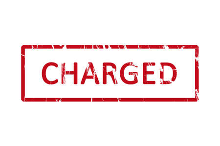 charged: An office rubber stamp with the letters charged