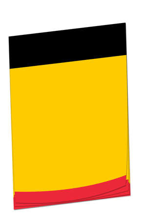 adding: Blank note paper with space for adding your own text. Colours match the Belgian flag.
