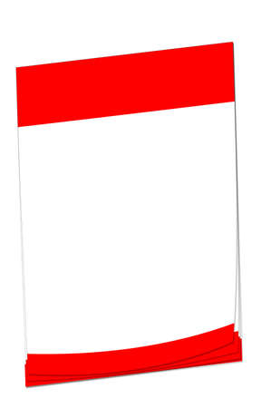 Blank note paper with space for adding your own text. Colours match the Canadian flag. photo