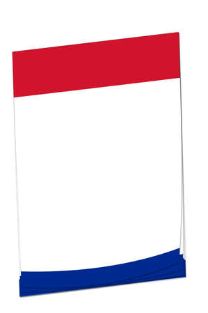 cuban flag: Blank note paper with space for adding your own text. Colours match the Cuban flag.