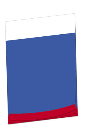 Blank note paper with space for adding your own text. Colours match the Russian flag. photo