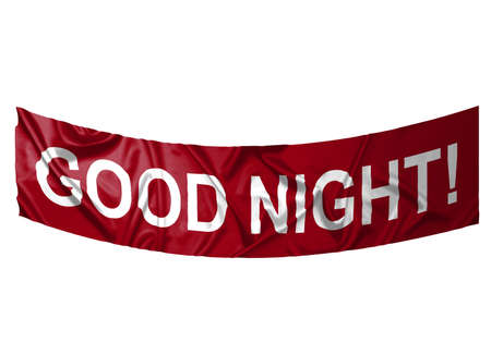 A red banner with white text saying Good night Stock Photo - 6845644