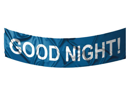 A red banner with white text saying Good night Stock Photo - 6845647