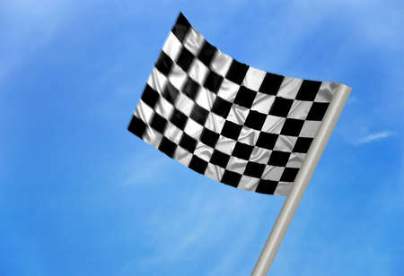 A  winner flag with checkered pattern Stock Photo - 6845687