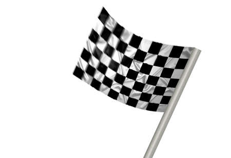 A winner flag with checkered pattern Stock Photo - 6845693
