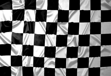 A  flag with checkered pattern. Stock Photo - 6845668