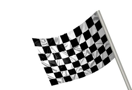 A flag with checkered pattern Stock Photo - 6845716
