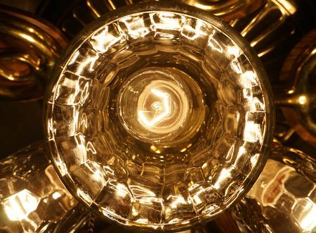 ceiling light closeup Imagens