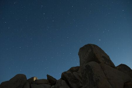 Rock Formation With Starry Night