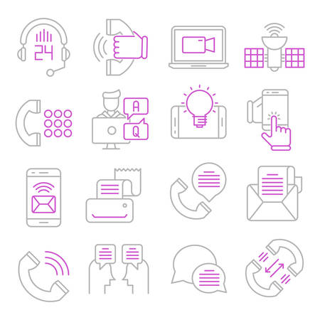 Communication outline icons suitable for a wide range of digital creative projects.