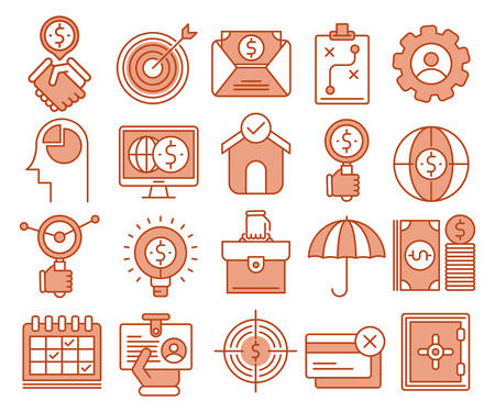 Business and Finance vector icons set