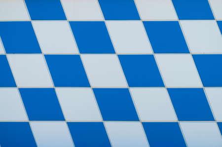 whiteblue: white-blue chessboard Stock Photo